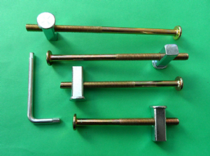 Metal Bunk & bed Bolts, Square end/Block Nuts.